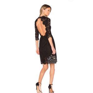 Rachel Zoe Open Black Lace Dress.
